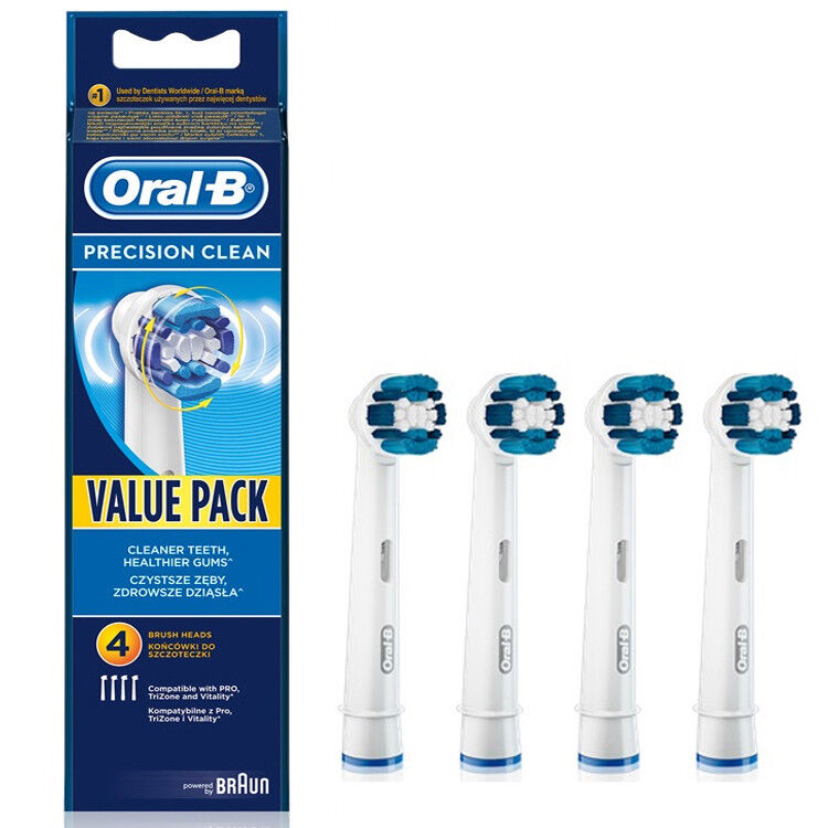 4x Braun Oral B Precision Clean Electric TOOTHBRUSH HEADS EB20-4