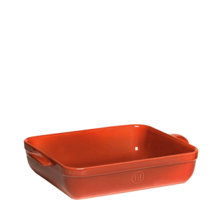New Emile Henry Rectangular Baking Dish 35 x 25.5cm Red Brick