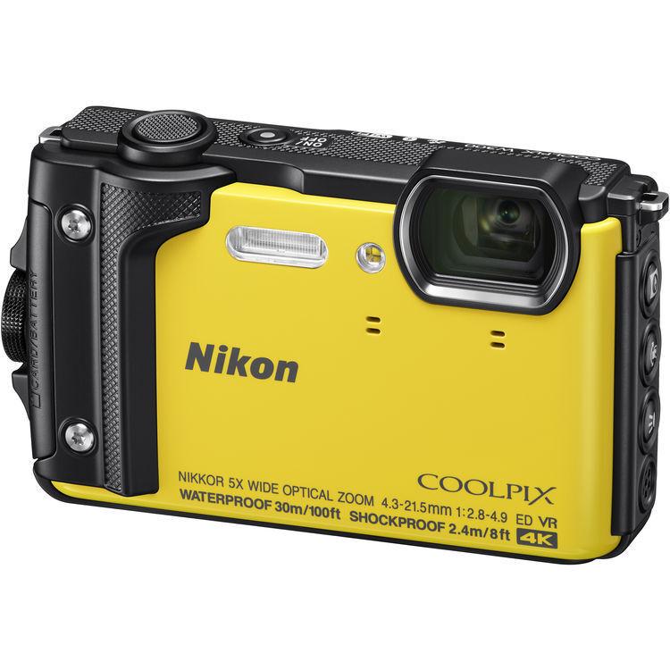 Nikon COOLPIX W300 16.0-Megapixel Waterproof Digital Camera Yellow 26525