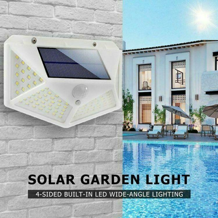Waterproof 100 LED PIR Motion Sensor Solar Power Outdoor Garden Lamp Yard Light 2