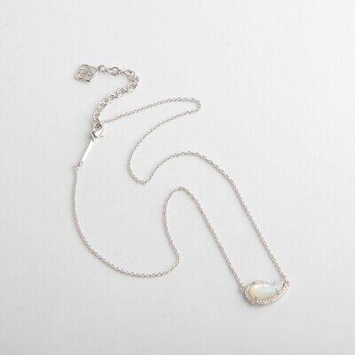 Kendra Scott Tansy Pendant Necklace Silver Plated Ivory Mother-of-Pearl Mother Of Pearl Silver Plated Necklace