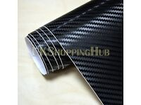 3D Black Car wrap Vinyl Sticker Sheets, sizes from 0.5 Meter to 20 Metres