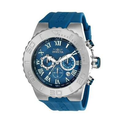 Invicta 24775 Men's Pro Diver Blue Chronograph Black Polyurethane Watch