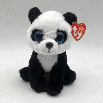 "Ty Beanie Boos 6"" Ming the Panda Bear Plush Stuffed Animals Toy Girl Gift"