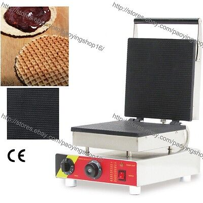 Commercial Nonstick Electric Square Dutch Stroopwafels Baker Maker Iron Machine