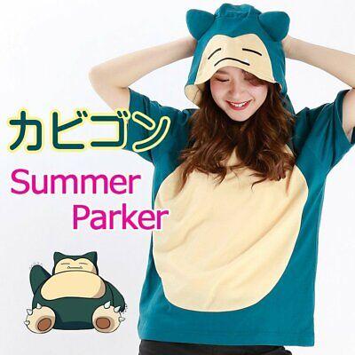 SAZAC Pokemon Snorlax Summer T-Shirt Hoodie Cosplay Parker Unisex F/S Japan New