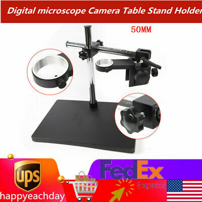 Microscope Holder Dual-arm Metal Boom Camera Microscope Table Stand Holder Suppo