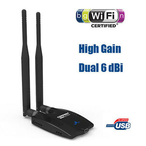 Long-Range-Wireless-N-WiFi-USB-Adapter-150Mbps-2x-6dBi-Antenna-Desktop-Laptop