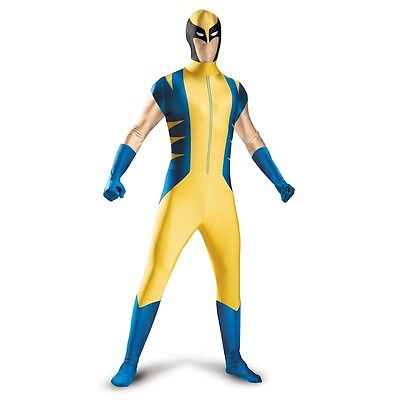 Wolverine Deluxe Bodysuit Zentai Stretch Adult Costume | Disguise 50378 (Wolverine Deluxe Costume)