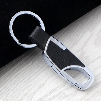 Schlüsselanhänger Karabinerhaken Schlüsselring Leder Massiv Clip Anhänger Stabil