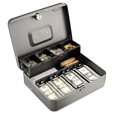 Steelmaster Tiered Cash Box Wbill Weights Cam Key Lock Charcoal 2216194g2