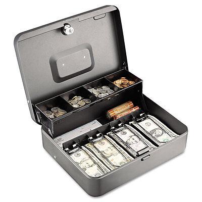 Steelmaster Tiered Cash Box Wbill Weights Cam Key Lock Charcoal 2216194g2