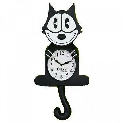 Nj Croce Felix The Cat Animated Wall Clock New Free