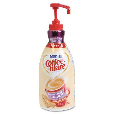 Coffee-mate Liquid Coffee Creamer Sweetened Original 1500mL Pump Dispenser - Coffee Creamer Dispenser