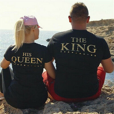 King Queen T Shirt Byfriend Girlfriend Wifey Husband Couple Hubby Familly Gift