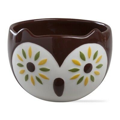 204756 Brown Oscar Owl Snack Dip Bowls Holiday Halloween Christmas Party Hoot