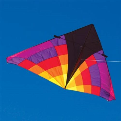 "Delta Kite Levitation Ember Huge 108"" X 55"" + Denier Ripstop Nylon + 2-tails"