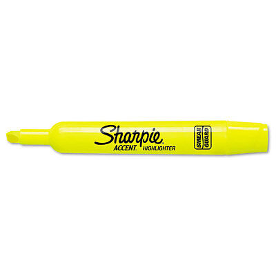 Sharpie Accent Accent Tank Style Highlighter Chisel Tip Fluorescent Yellow Ea