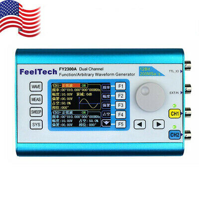 2.4 Feeltech Fy-2300 2ch Dds Arbitrary Waveform Function Signal Generator Meter
