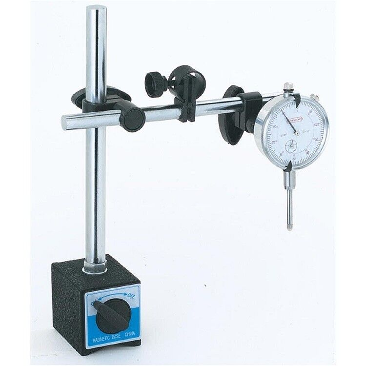New Universal 3D Deluxe Magnetic Base Holder For Dial Test Indicator w/ Warranty
