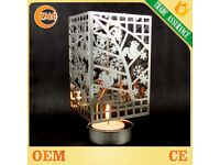 Wholesale cheap customized silver plated carousel candle holder metal