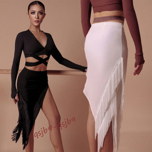 New Sexy Latin Tassels Rhythm Practice Skirts Cha Cha Tango Rumba Samba Ballroom