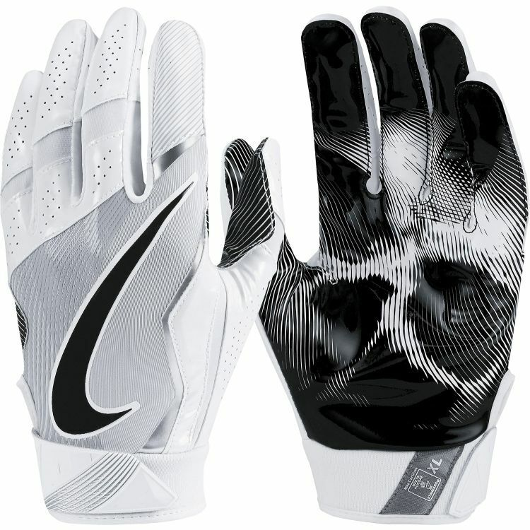 New Other Nike Boys Vapor Jet 4 Football Gloves Black/Silver/White Youth Medium