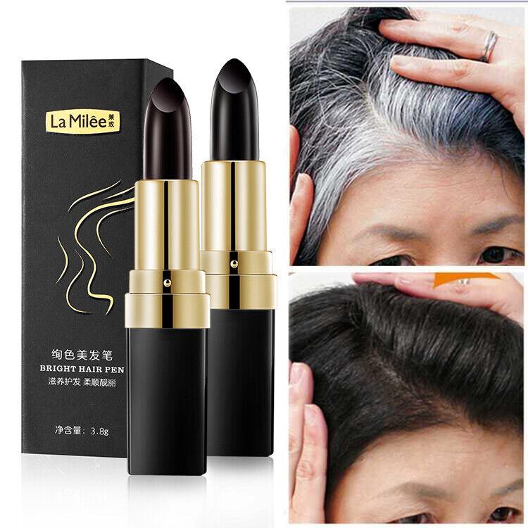 Haarfärbestift gegen graue Haare wasserfest Haar Farbe Dunkel Grauabdeckung Hair
