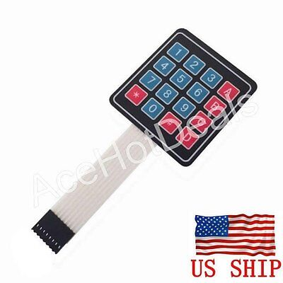 4x4 Matrix Array 16 Key Membrane Switch Keypad Keyboard Arduino Avr Raspberry Pi