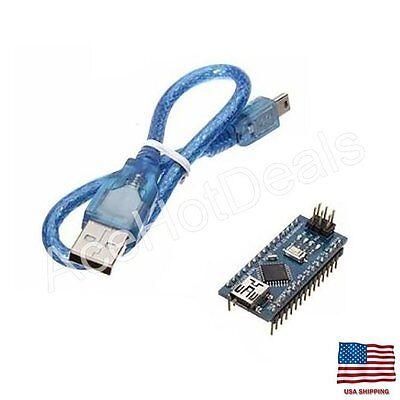 Mini Usb Nano V3.0 5v 16m Atmega328p Ch340g Micro-controller Board Arduinocable