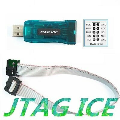 1pcs Avr Usb Emulator Debugger Programmer Jtag Ice For Atmel