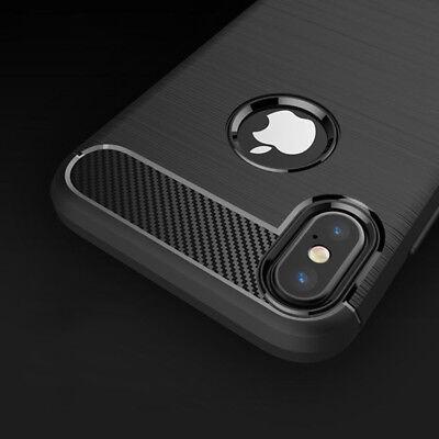 iPhone X Hülle Karbonfaser Soft TPU Carbon Fiber Cover Case Bumper  +++ schwarz - Soft Tpu Bumper Case