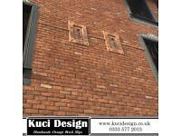 Handmade Orange Brick Slips/ Slip Bricks / Brick Cladding