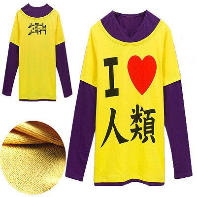 New No Game No Life Sora cosplay costume Uniform Sport Halloween Anime Shirt Gif - Gifs Animated Halloween