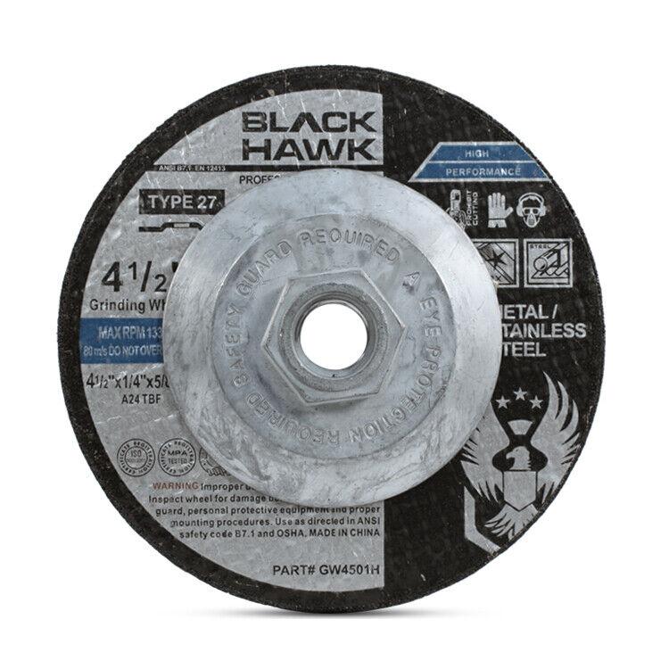 """10 Pack - 4-1/2"""" x 1/4"""" x 5/8""""-11 Hubbed Metal Grinding Wheels Type 27 Hub Discs"""