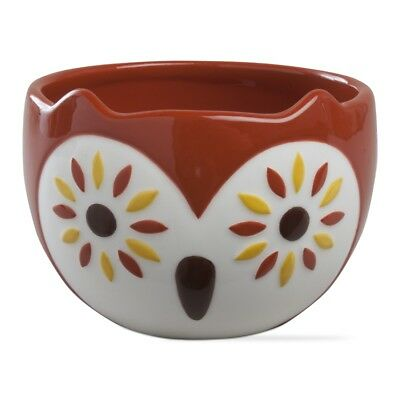 204755 Red Oscar Owl Snack Dip Bowls Holiday Halloween Christmas Party Hoot Bird