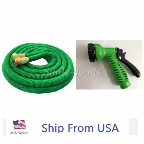 50ft expandable garden water hose pipe car wash spray for 50ft garden design