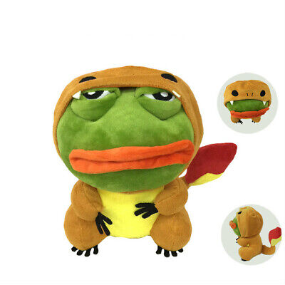 25cm Pepe The Frog Sad Frog Plush transformed into a Fire Dragon Frog Doll Toy
