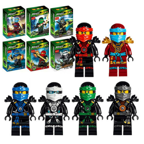 Ninjago Toy Boys Ninja Mini Figures X 6 Kai,Cole,Lloyd,Nya,J