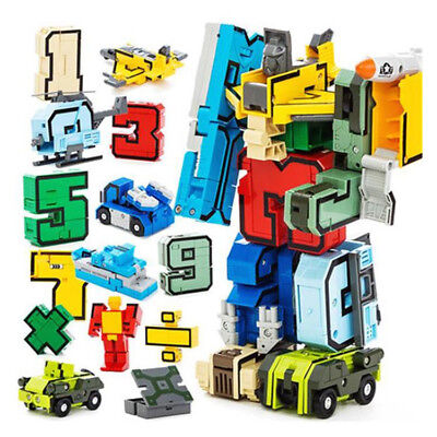 Numbers Armour Team Transform Robot Puzzle Toy for Kid Boy Present Set of 15 Pcs (Transformers For Kids)