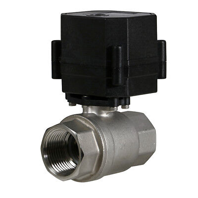 1 Stainless Steel Motorized Electric Ball Valve 110v 120v- 220 Volt Ac 2 Wire