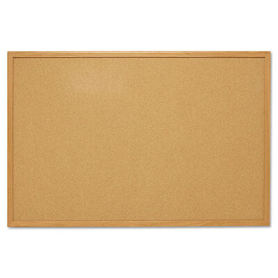 Mead Cork Bulletin Board 48 X 36 Oak Frame 85367