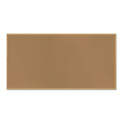 Mastervision Value Cork Bulletin Board With Oak Frame 48 X 96 Natural