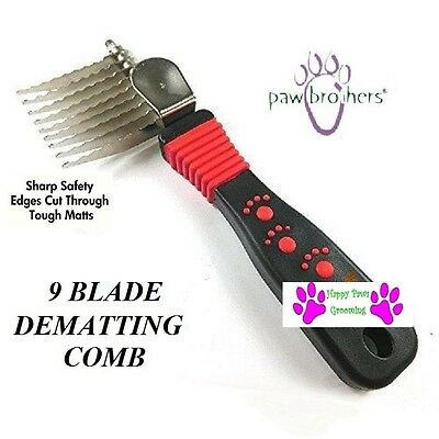 Grooming DOG CAT PET Mat Breaker Matbreaker Dematting Razor COMB RAKE 9 blade