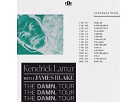 4x Standing Tickets - Kendrick Lamar w/ James Blake @ The SSE Arena, Wembley - 20th February 2018