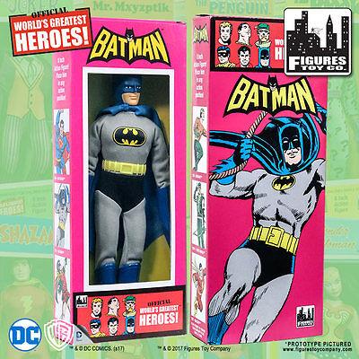Official Dc Comics Batman 8 Inch Action Figure In Mego Style Retro Box