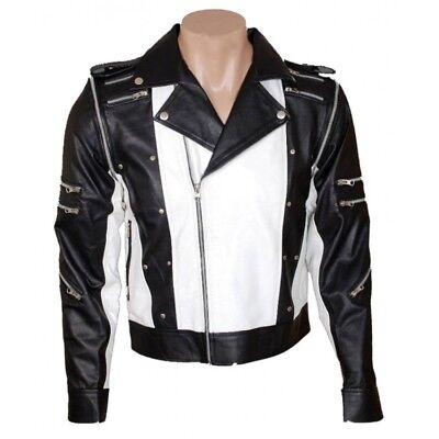 Michael Jackson Pepsi Ad Black and White Leather Jacket](Michael Jackson Leather Jacket)