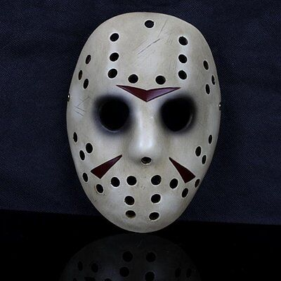 Resin Hockey Deluxe Halloween Mask Fancy Dress Jason Slasher Serial Killer
