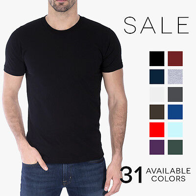 American Apparel T-Shirt 2001 Fine Jersey Crew Neck Blank Cotton Tee Shirt