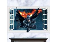3D Wall Sticker BATMAN, BRAND NEW, 90x60cm